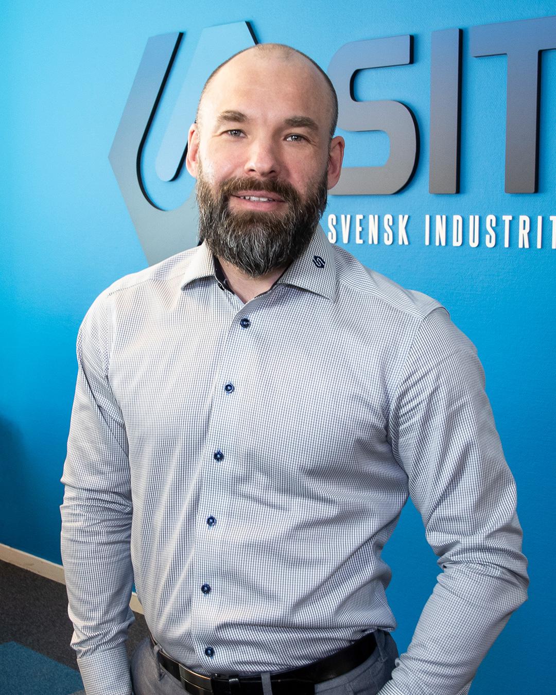 Pressbild på Fredrik Kroll VD på SITE Svensk Industriteknik